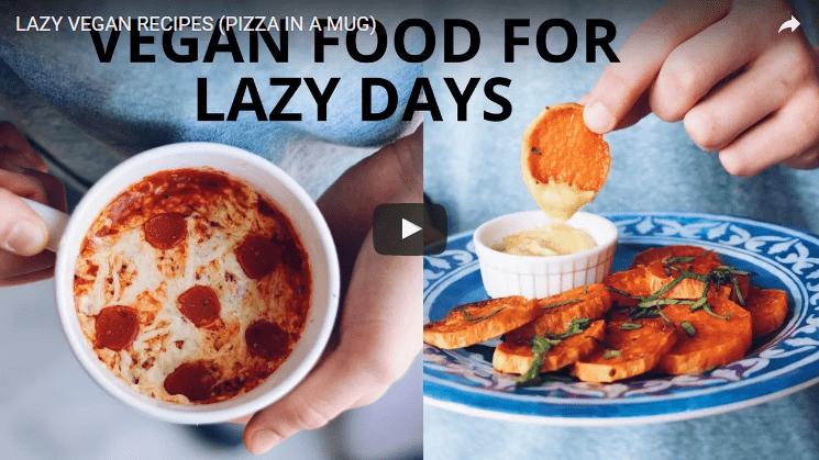 lazy vegan mug recipes