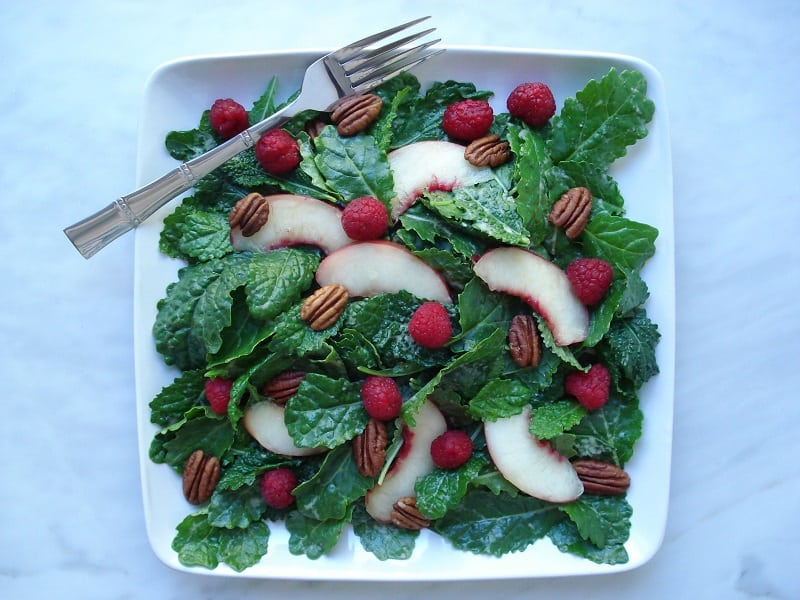 Baby-Kale-Salad-with-Nectarine-Balsamic-Dressing-2-033