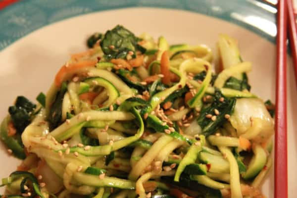 ginger zoodles delicious