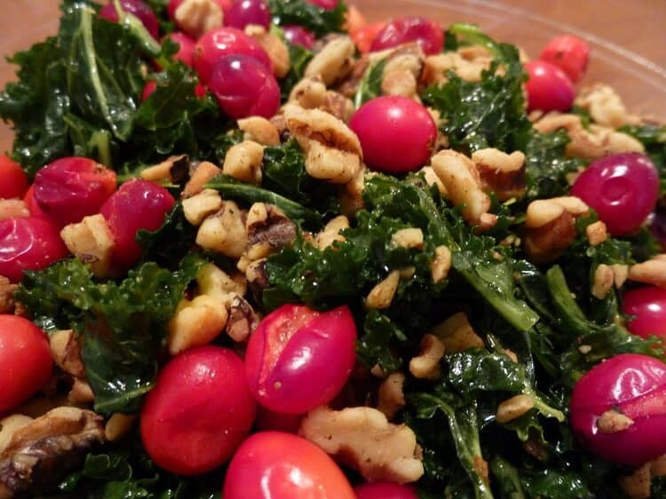 cranberry-bread-kale-salad