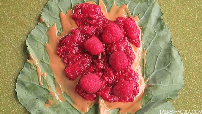pbj collard wraps raspberry