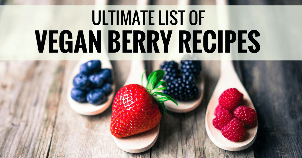ultimate list of vegan berry recipes