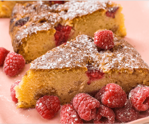 vegan raspberry tea cake