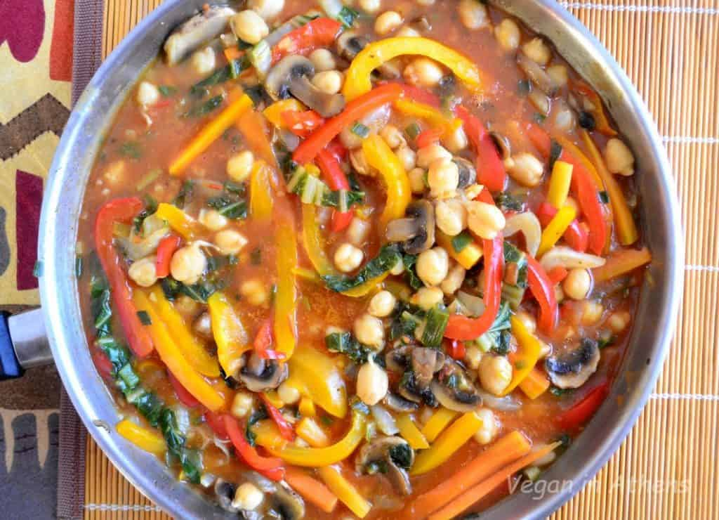 sweet and sour vegetables with mushrooms