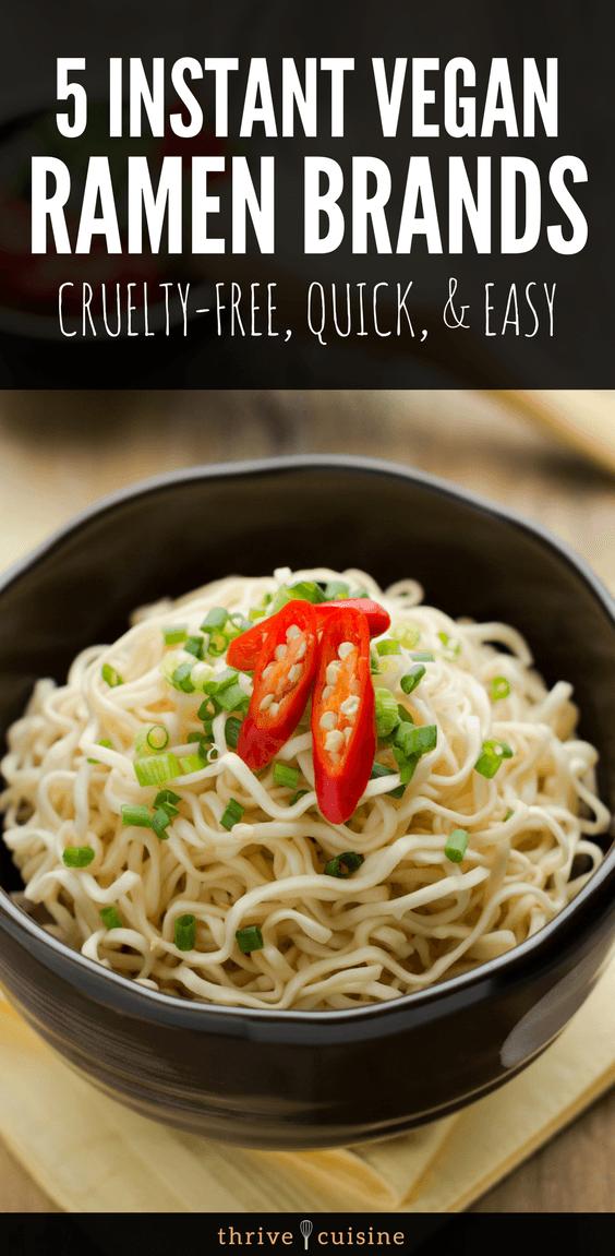 The Best Vegan Instant Ramen Brands for Quick and Easy Ramen Noodles - #vegantips #veganfood #ramen