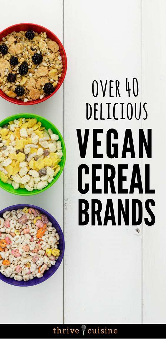 vegan cereal brands and list