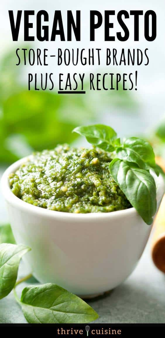 We've compiled the best vegan pesto brands plus teach you how to make your own! #vegan #vegantips #veganfood #veganpasta