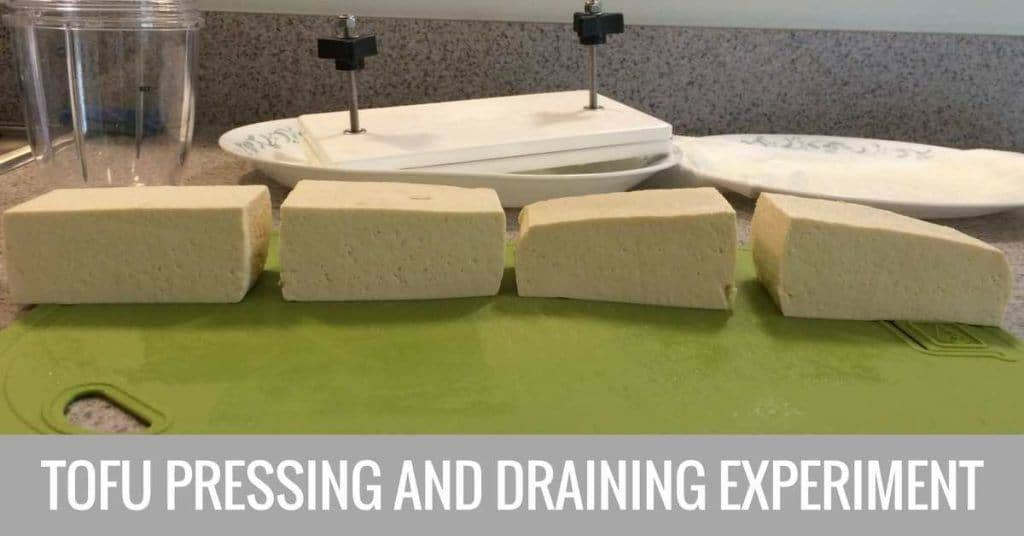 tofu pressing and draining experiment