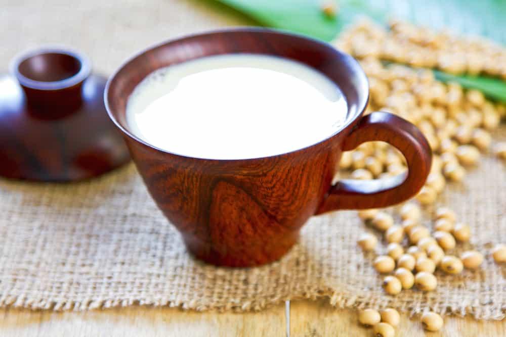 glass of soy milk coffee creamer