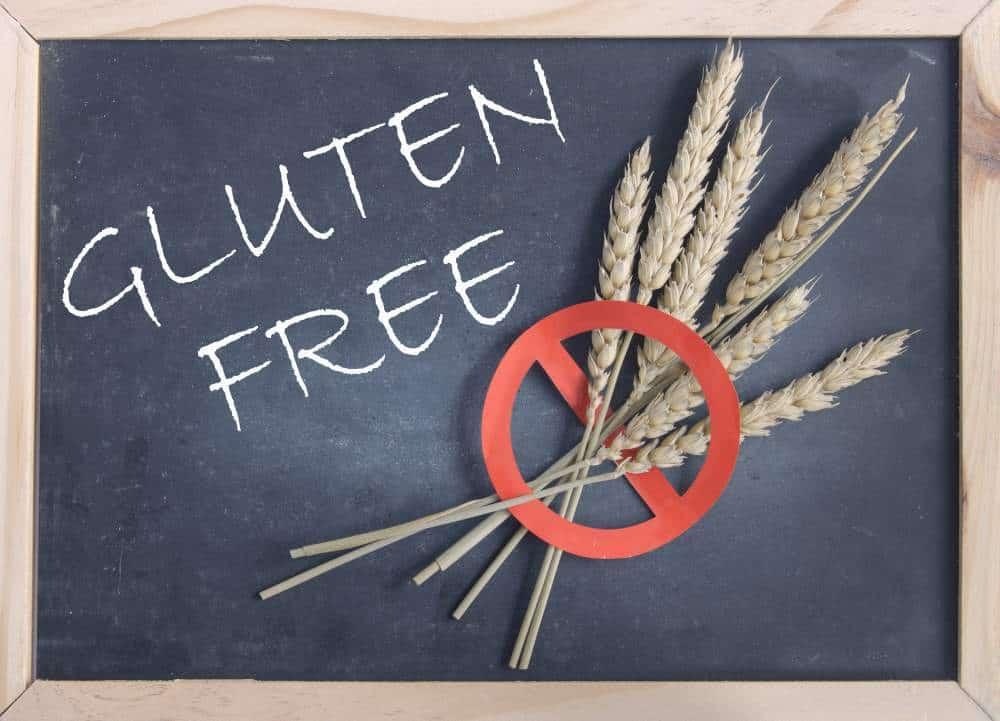 gluten free on a chalkboard