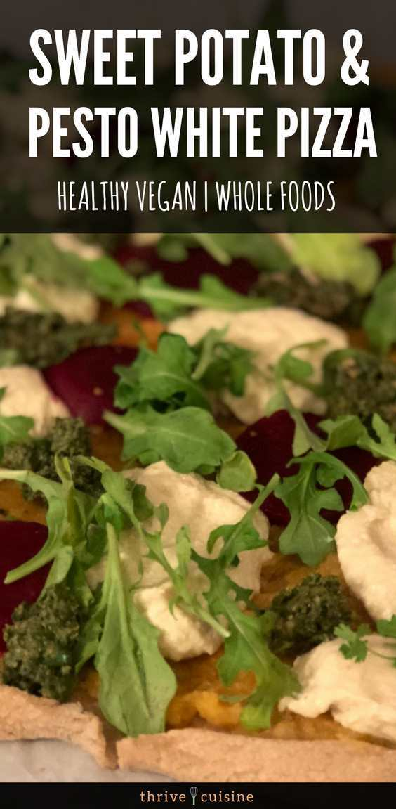 healthy vegan pizza recipe sweet potato hero image