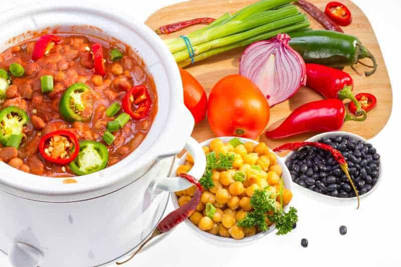 vegan slow cooker chili