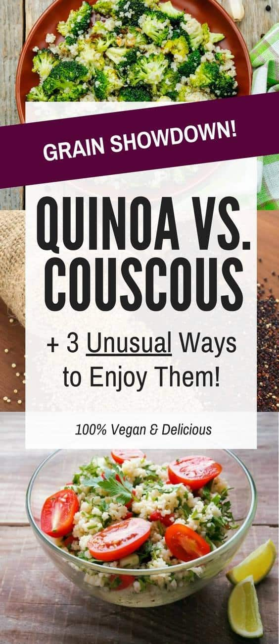 quinoa vs couscous vs banner image