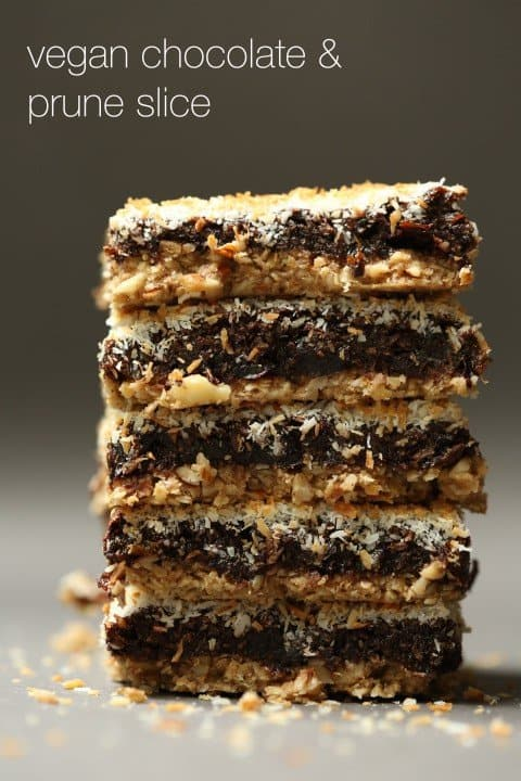 prune and chocolate slice by my goodness kitchen