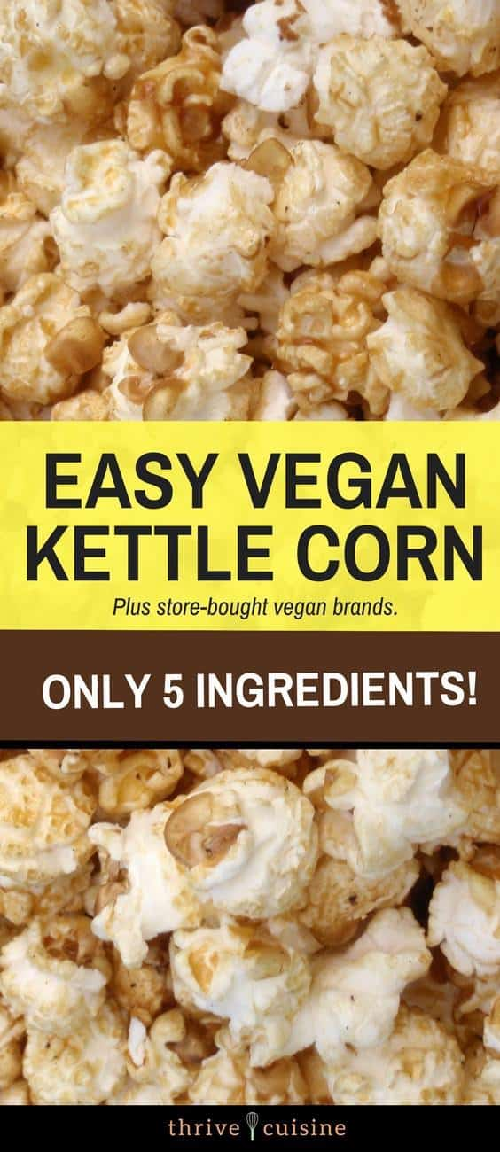 vegan kettle corn brands and recipes banner image