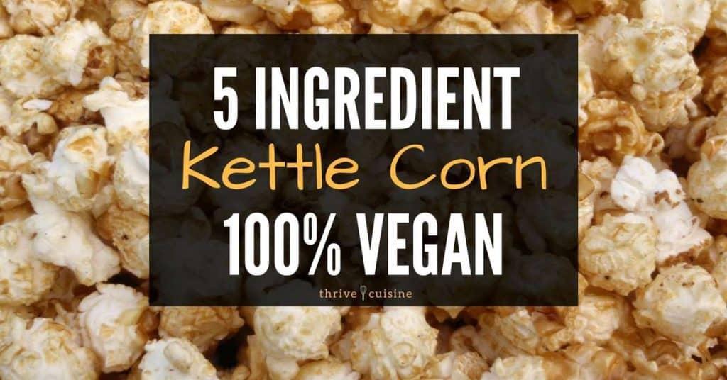 vegan kettle corn facebook banner post