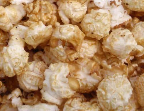 close up of vegan kettle corn