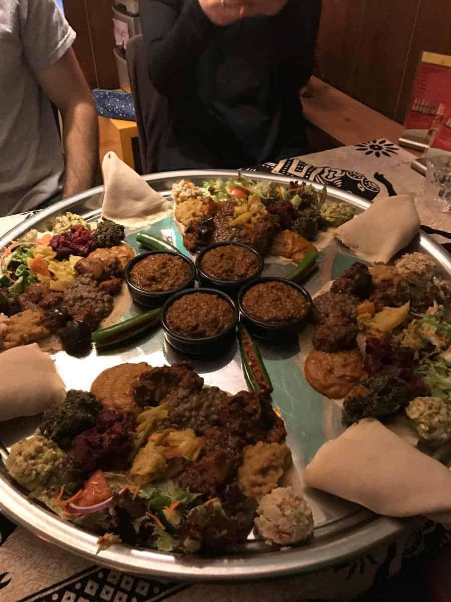 eetcafe ibis ethopian food on a plate