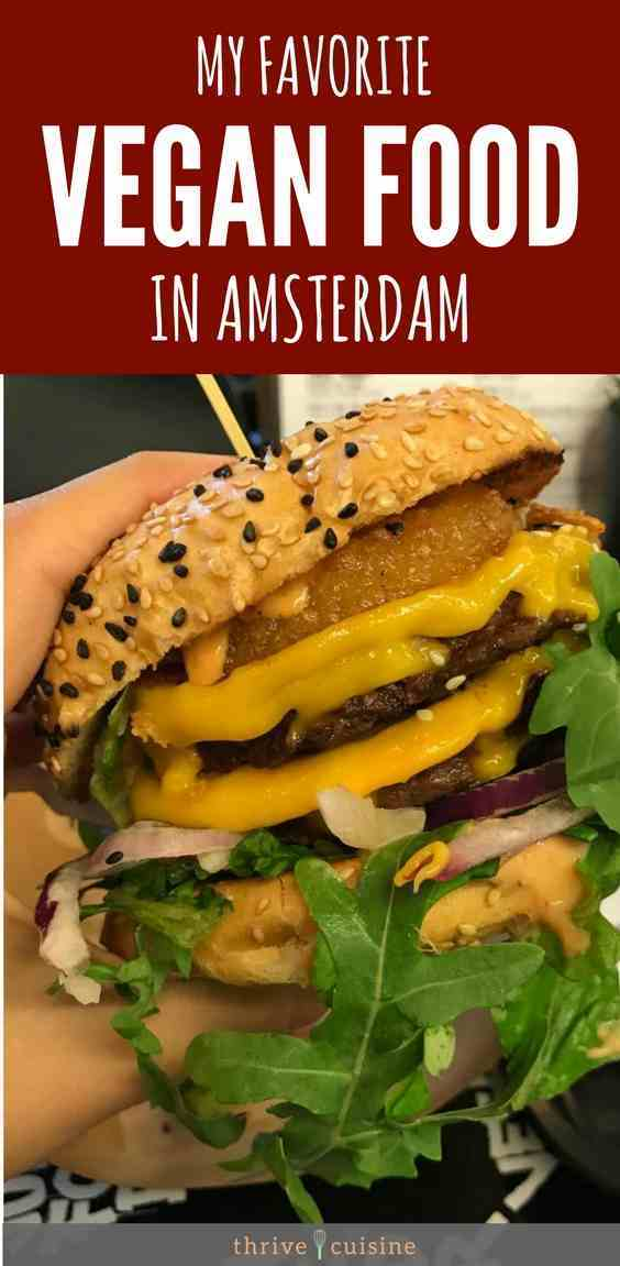 The best vegan food and restaurants I tried in Amsterdam. #veganfood #amsterdam #whatveganseat