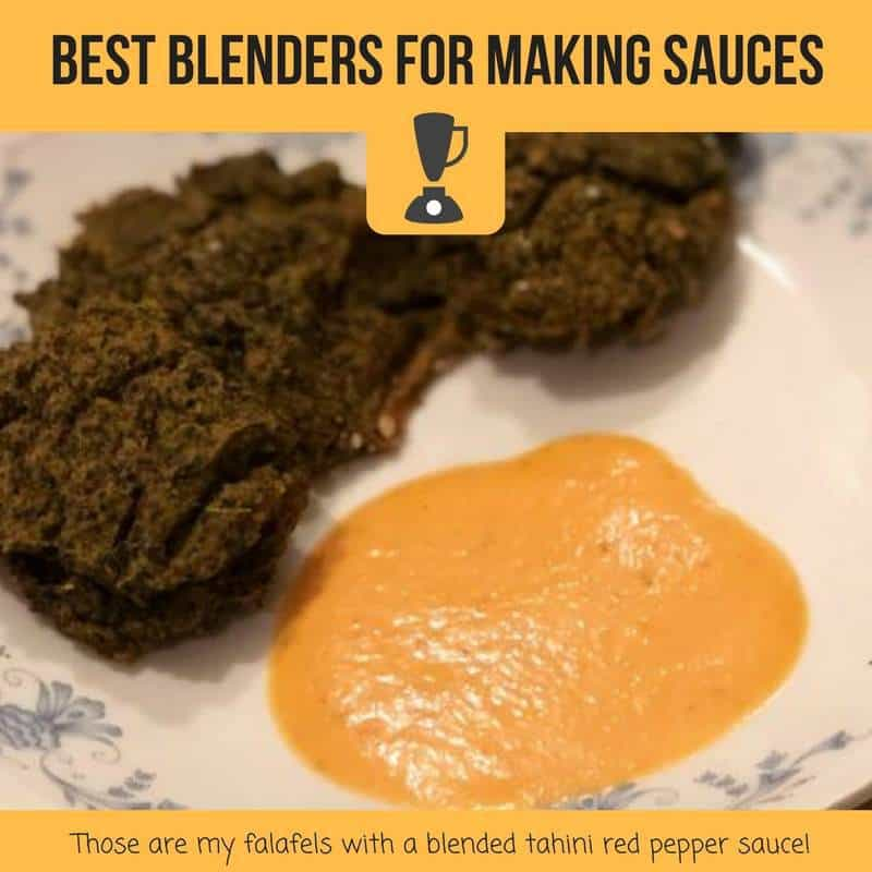 best blenders for making sauces with a blended tahini red pepper sauce