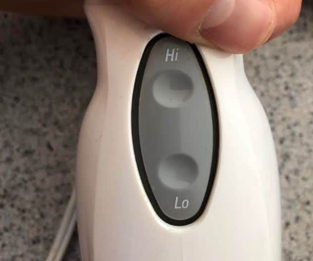 immersion blender with 2 speeds