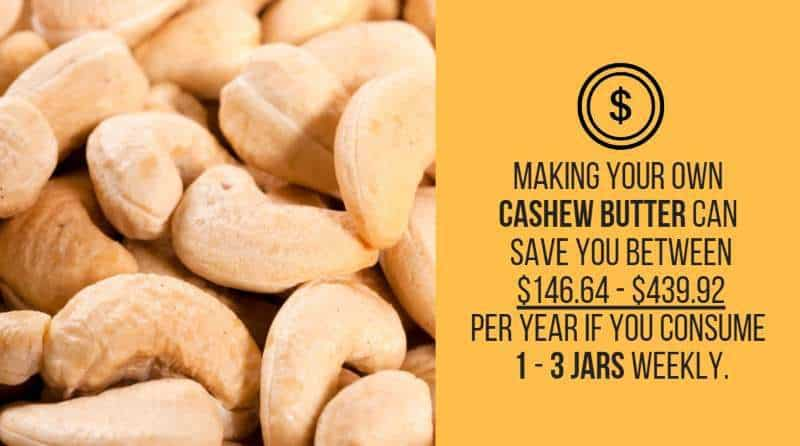 cashew butter savings