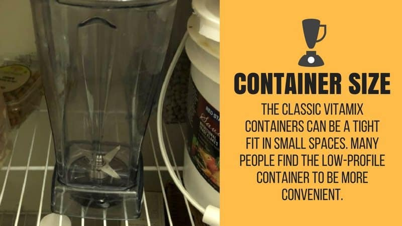 cramped vitamix tall container
