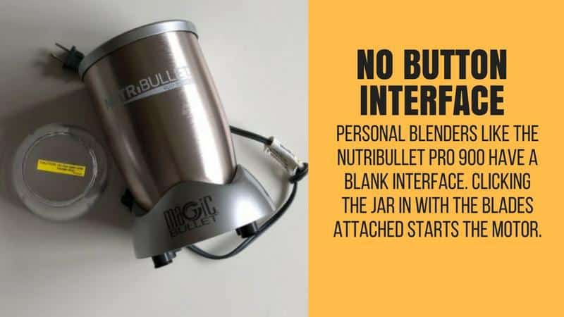 nutribullet pro personal blender 900 interface