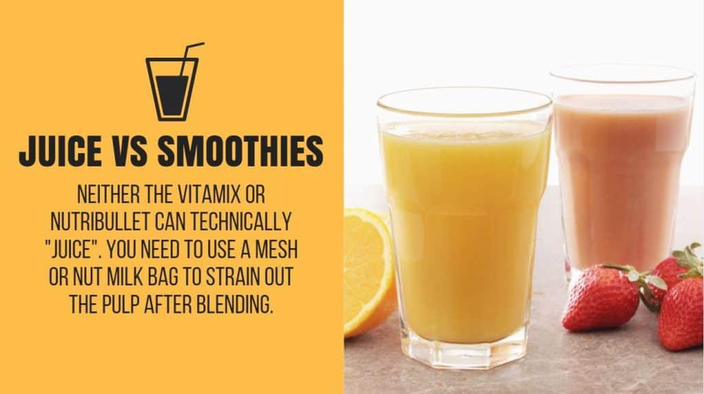 nutribullet vitamix juicing vs blending