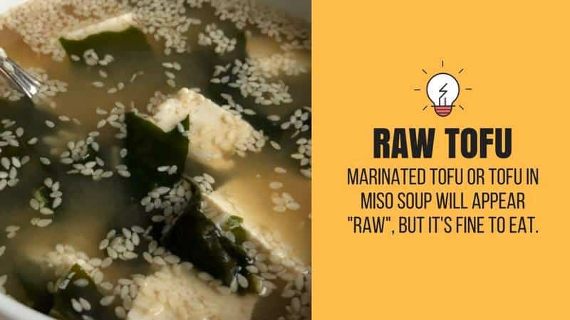 raw tofu soup example