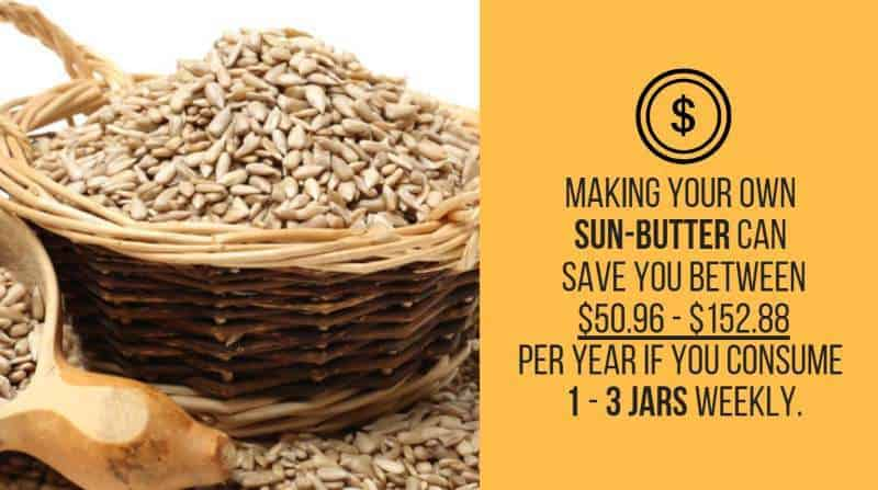 sun butter cost savings
