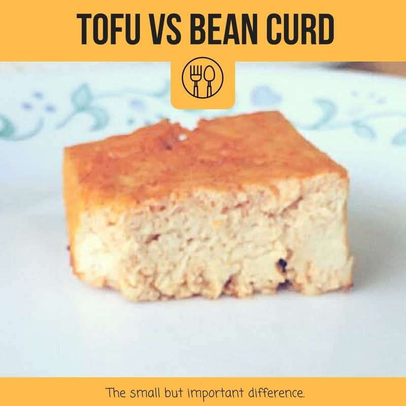 tofu vs bean curd