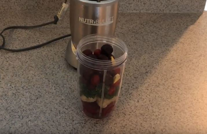 all ingredients into the nutribullet