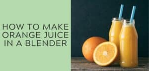 how to make orange juice in a blender