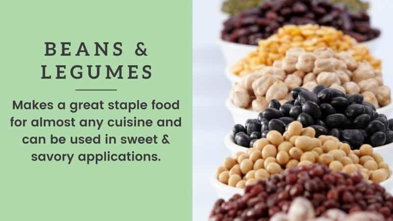 beans and legumes vegan shopping list