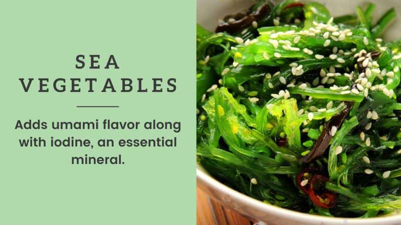 sea vegetables vegan grocery list