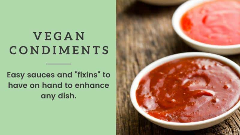 vegan condiments list