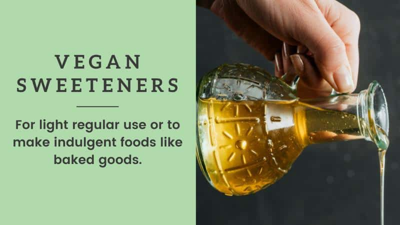 vegan sweeteners vegan shopping list