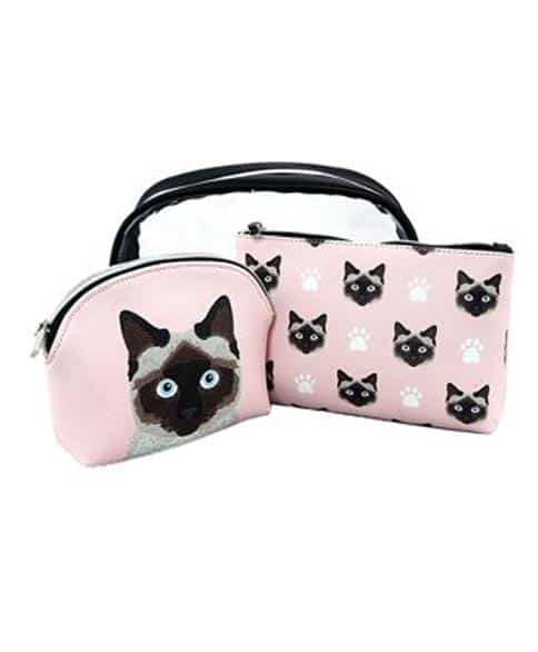 Ashley M. Pink Travel Cosmetic Makeup Bags