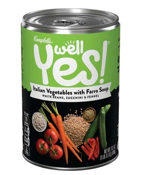 Campbell's Well Yes! Italian Vegetables with Farro Soup
