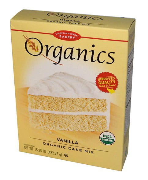 European Gourmet Bakery Organics Cake Mix