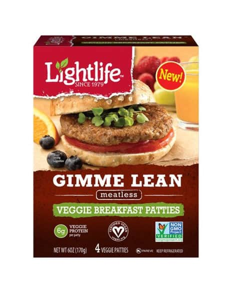 Lightlife Gimme Lean Veggie Breakfast Patties