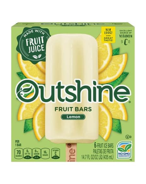 OUTSHINE Lemon Fruit Bars