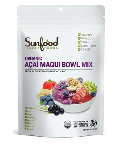 Sunfood Superfoods Organic Acai Maqui Bowl Powder