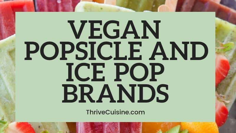 VEGAN POPSICLE AND ICEPOP BRANDS