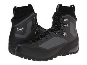 Waterproof Black Bora Mid GTX Hiking Boots by Arc'teryx (Men's) vegan hiking boots