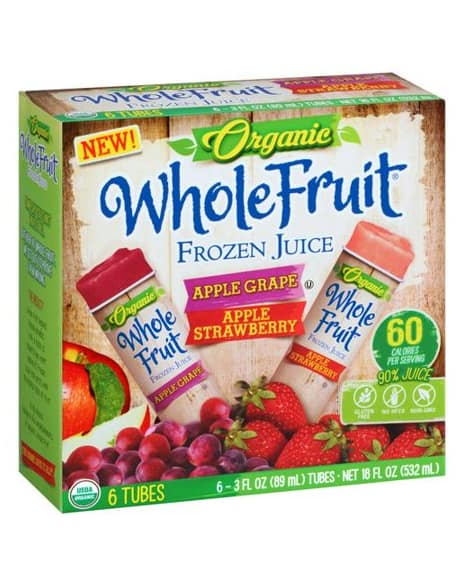 Whole Fruit Organic Frozen Juice
