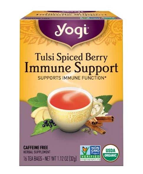 Yogi Tea Tulsi Spiced Berry Immune Support Tea