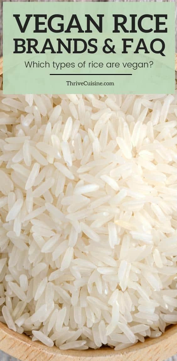 is rice vegan - vegan rice brands