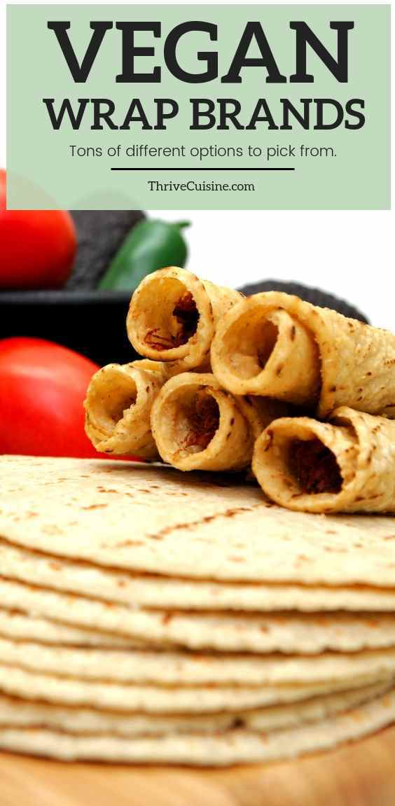 vegan wrap brands and tortillas